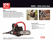 ICS 680GC Concrete Chainsaw Data Sheet.