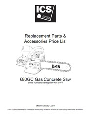 680GC Replacement Parts List