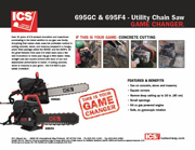 ICS 695GC & 695F4 Concrete Chainsaw  Data Sheet