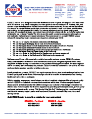CESSCO Quality Services Flyer