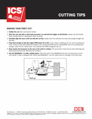 ICS Diamond Concrete Cutting Tip Sheet