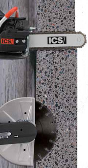 ICS 695GC Concrete Chainsaw Cutting Depth Comparison