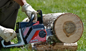 Oregon PowerNow cordless chainsaws cut big logs
