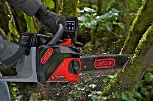 Oregon PowerNow chainsaw is perfect for property maintenance