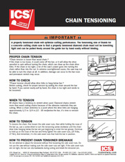 ICS Diamond Chain Tensioning Tip Sheet