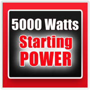 EM4000 provides up to 5000 watts of power for 10 seconds.